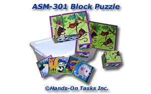 6-way Block Puzzle Assembly Activity