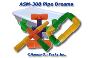 Colored PVC Pipe Assembly Activity