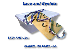 Lace and Eyelets Fine Motor Activity