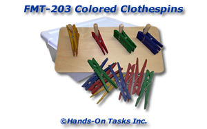 Colored Clothespins Fine Motor Activity