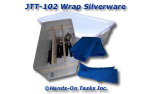 Wrapping Silverware Job Training Activity