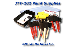 Package Paint Supplies Job Training Activity