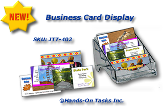 Business Card Display Assembly Activity