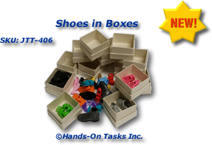 Doll Shoes in Boxes Put-In Activity