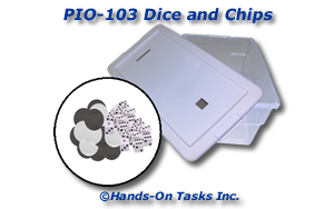 Dice and Poker Chips Put-In Activity