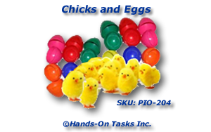 Chicks and Eggs Put-In Activity