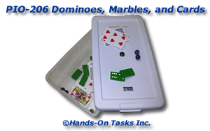 Dominoes, Marbles, and Cards Put-In Activity