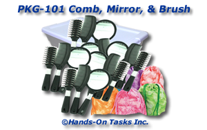Comb, Mirror, and Brush Packaging Activity