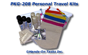 Personal Hygiene Travel Kit Packaging Activity
