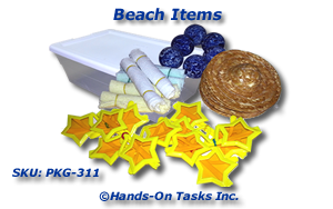 Beach Items packaging activity