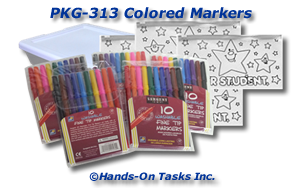 Colored Markers Packaging Activity