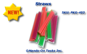 Colored Straws Packaging Activity