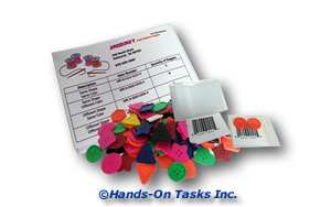 Package Large Buttons Job Training Activity