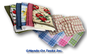 Fold Hand Towels and Dish Cloths Transitional Training Activity to Help Develop Personal Skills